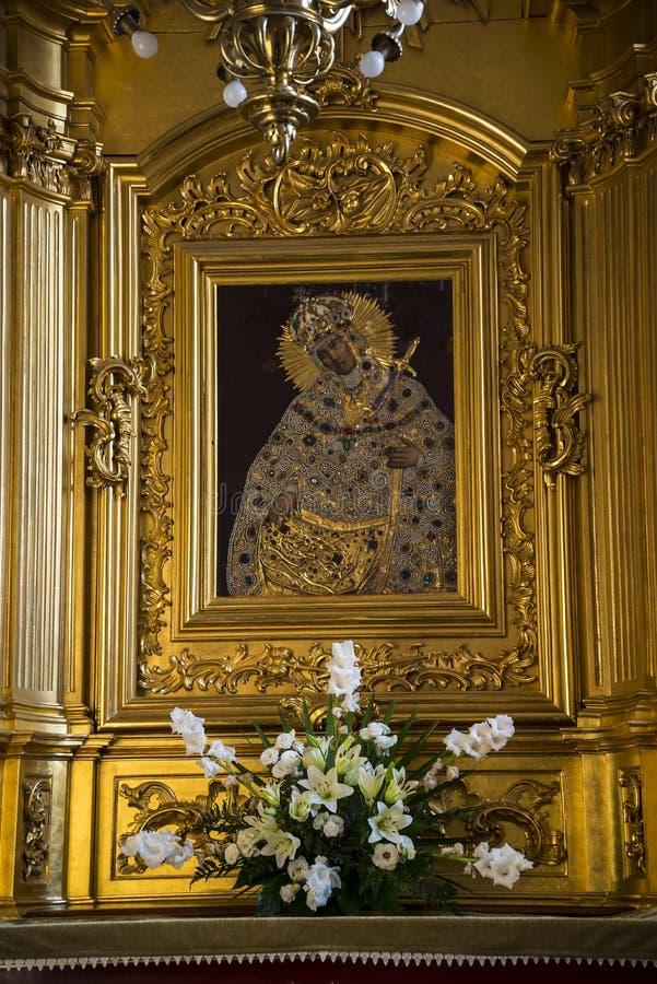Ikona w kościół w Krakow Polska obraz royalty free