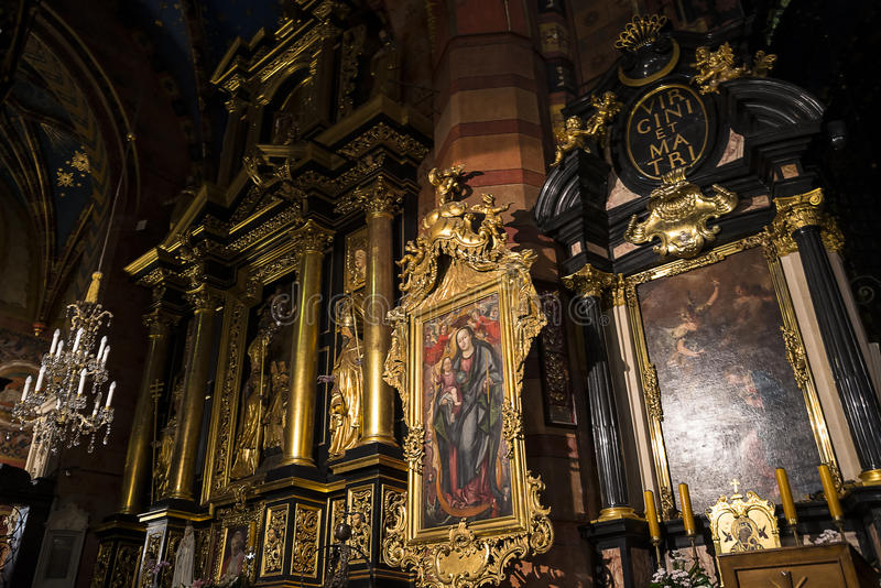 Ikona w kościół w Krakow Polska fotografia royalty free