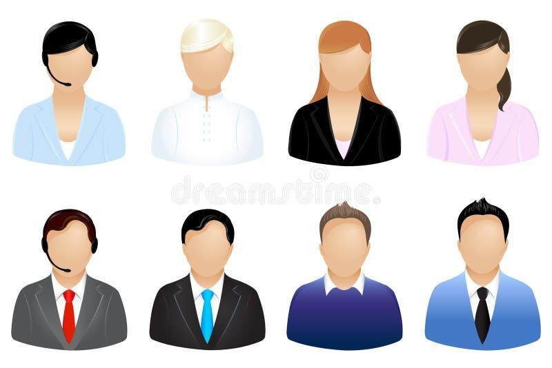 ikona wektorów biznesowi ludzie