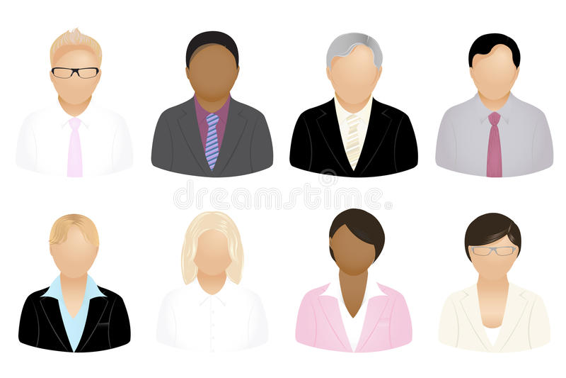 ikona wektorów biznesowi ludzie royalty ilustracja