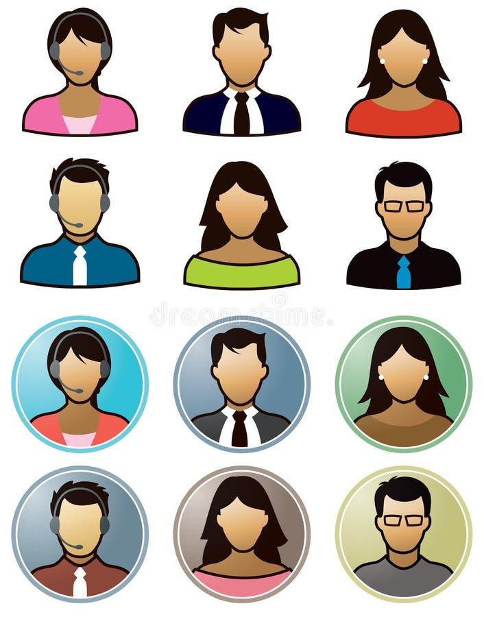 ikona wektorów biznesowi ludzie ilustracji