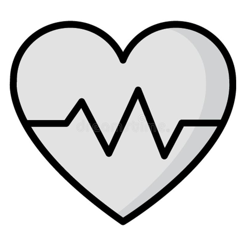 Ikona wektora izolowanego Lifeline, którą można łatwo modyfikować lub edytować royalty ilustracja
