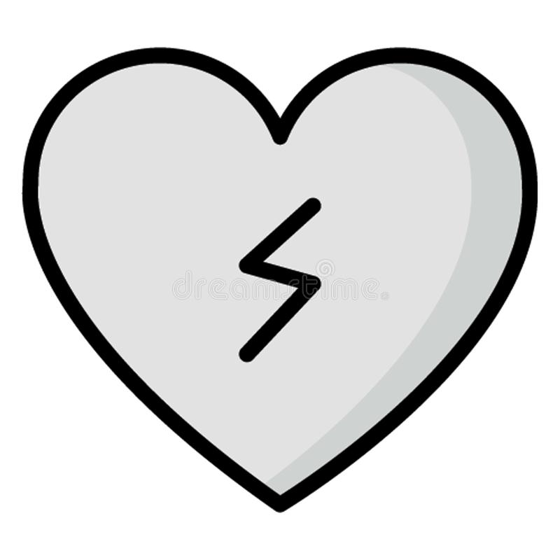 Ikona wektora izolowanego Lifeline, którą można łatwo modyfikować lub edytować ilustracja wektor