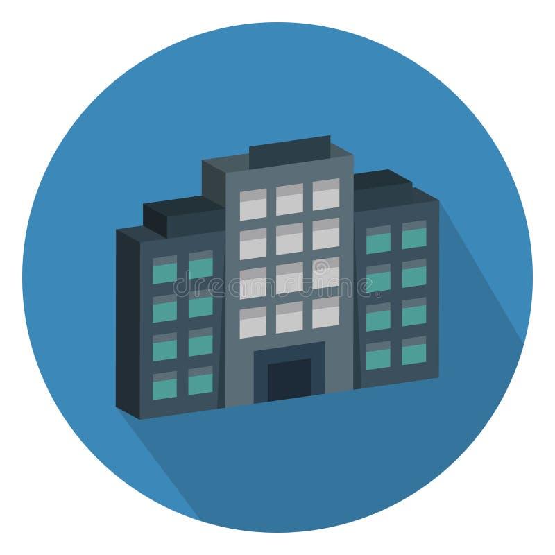 Ikona wektora kolorów Skyscraper jest w pełni edytowalna ilustracji