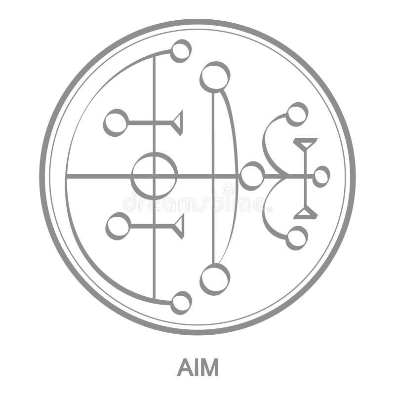 Ikona wektorowa z symbolem celu demona ilustracja wektor