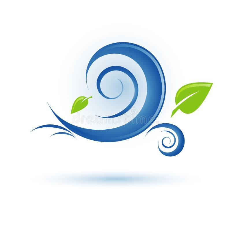 ikona wiatr ilustracji