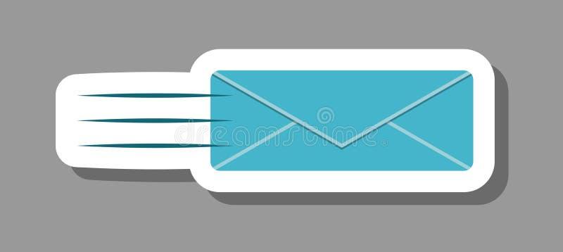 Ikona wysyłania poczty symbolizująca korespondencję i wiadomość royalty ilustracja