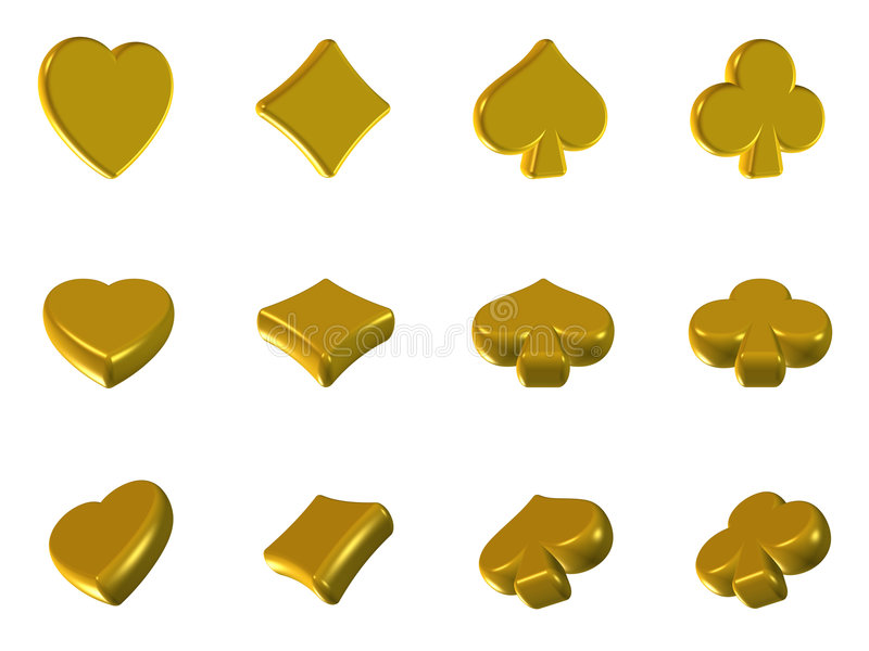 ikona złoty grzebak royalty ilustracja