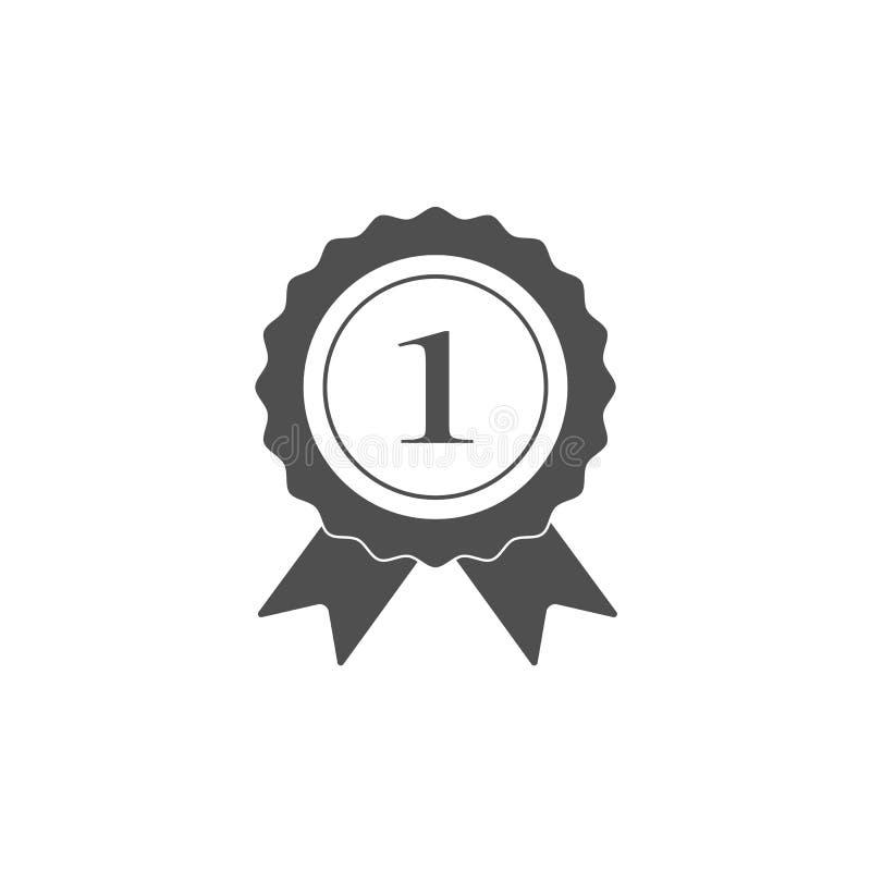 Ikona z liczbą jeden, mistrz, zwycięzca, lider, sukces ikony, wektorowa eps10 ilustracja - wektor ilustracji