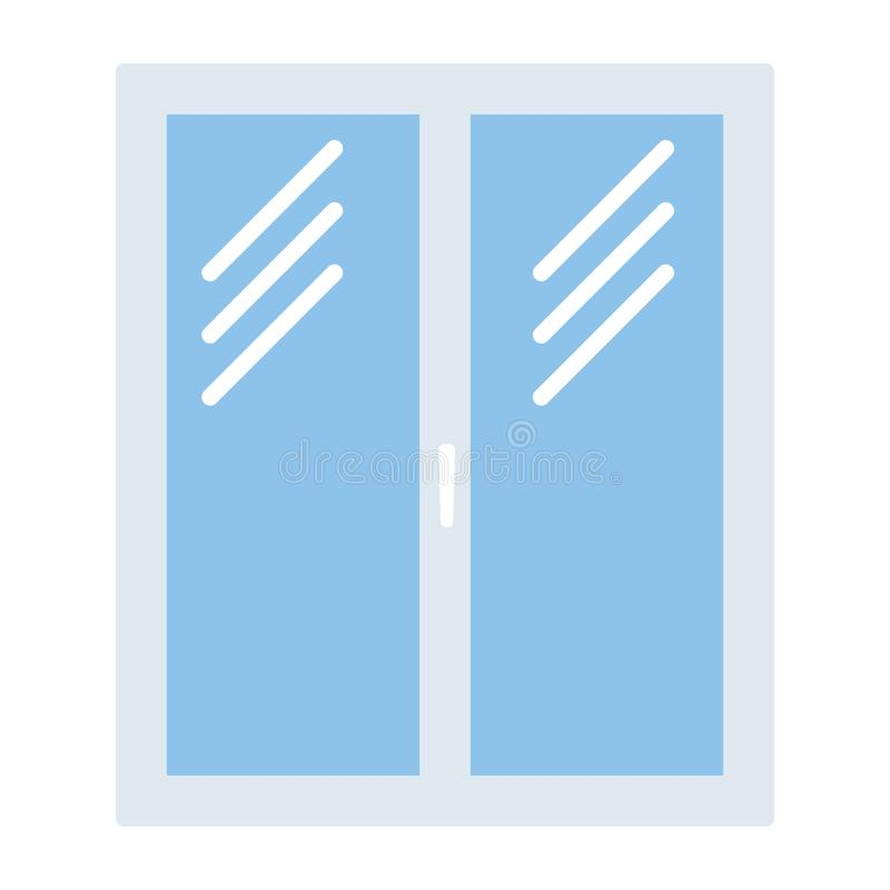 Ikona zamknięta nadokienna rama ilustracji