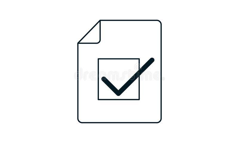 Ikona zatwierdzonego dokumentu Ilustracja koncepcji wektorowej do projektowania ilustracja wektor