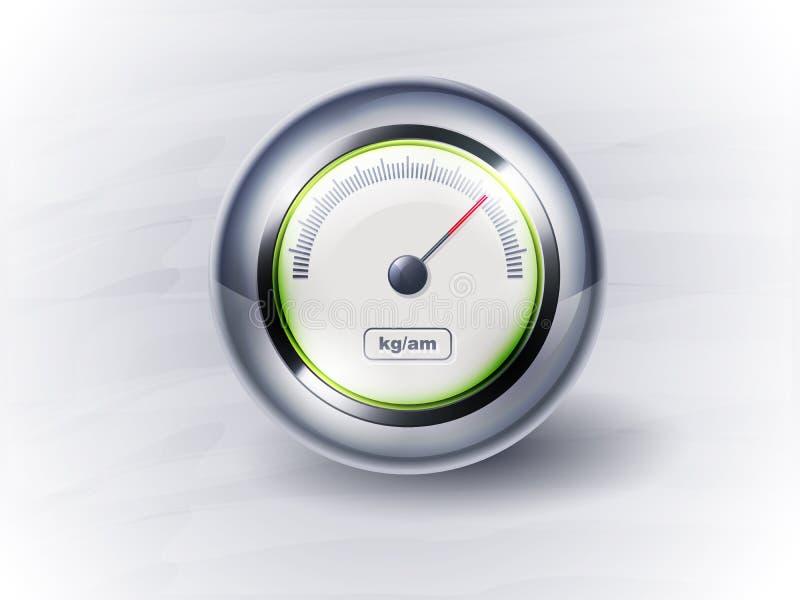 ikona zegarowy szybkościomierz eps10 ilustracji