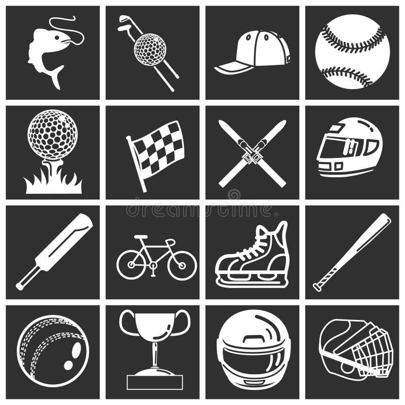 ikona zestaw sporty. ilustracja wektor