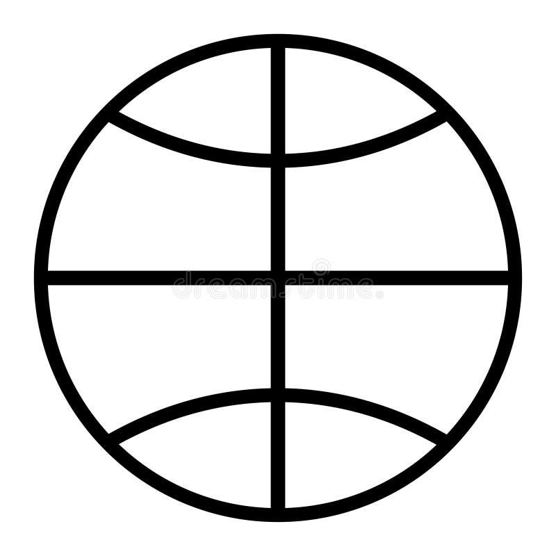 Ikona ziemski kula ziemska bielu tło ilustracji