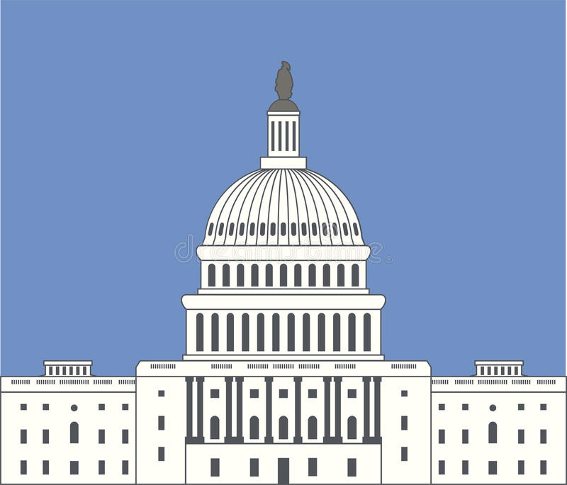 Ikona zlany stanu capitol wzgórze buduje Washington dc royalty ilustracja