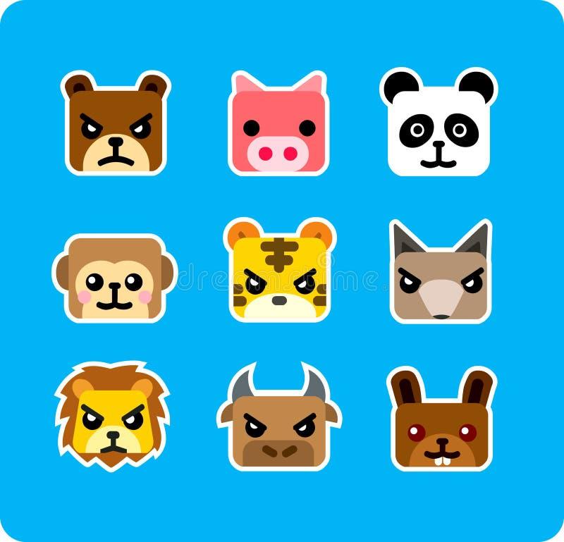 ikona zwierzę. ilustracji