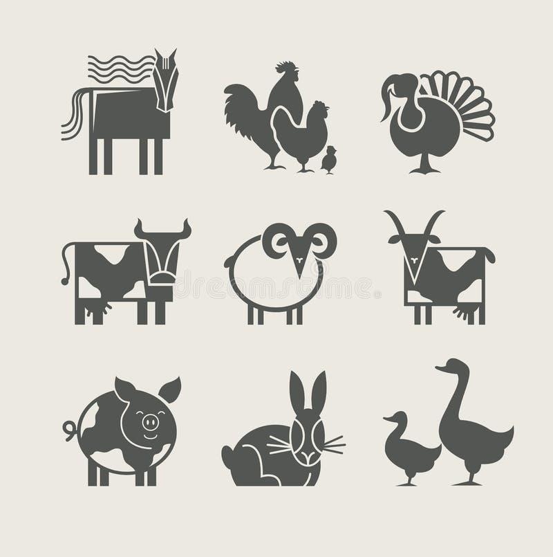 ikona zwierzęcy domowy set ilustracji