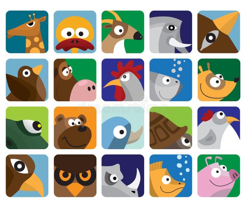 ikona zwierzęcy set ilustracji