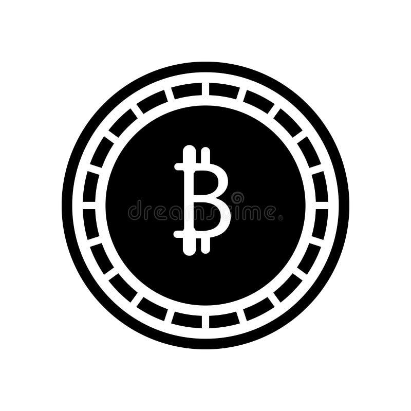 Ikone Bitcoin Cryptocurrency Element der Finanzierung f?r bewegliches Konzept und Netz Appsikone Glyph, flache Ikone f?r Websitee vektor abbildung