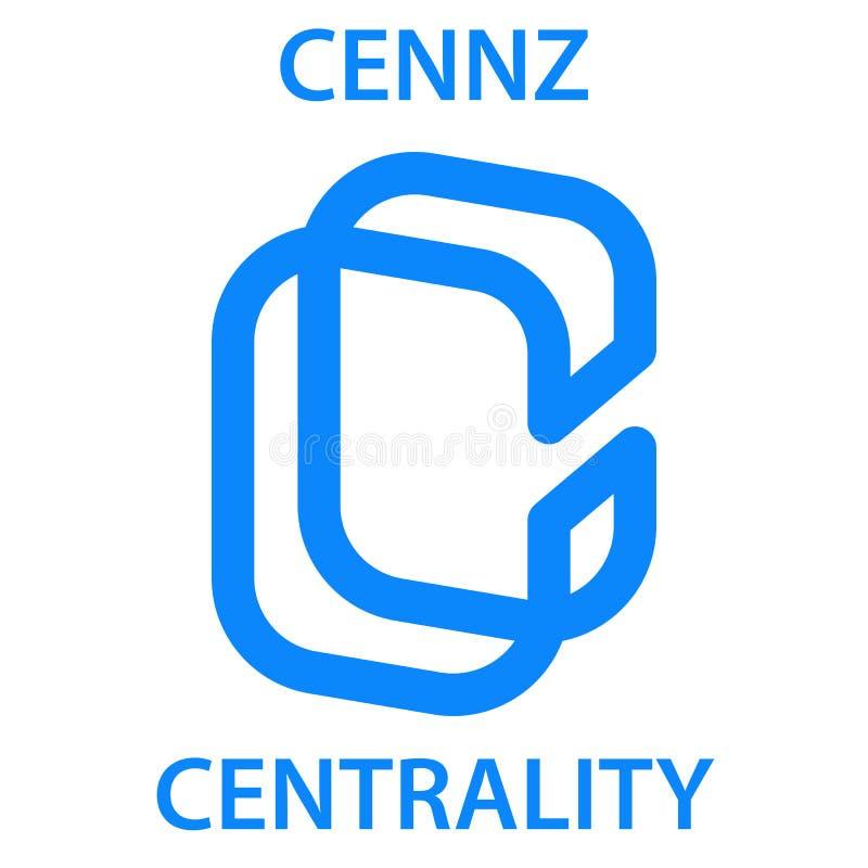 Ikone blockchain cryptocurrency Münze der zentralen Bedeutung Virtuelles elektronisches, Internet-Geld oder cryptocoin Symbol, Lo lizenzfreie abbildung