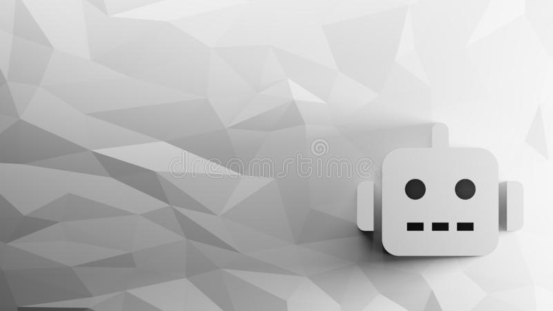Ikone 3d des Roboters stock abbildung