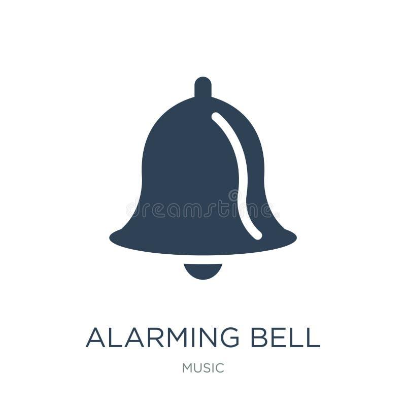 Ikone der alarmierenden Glocke in der modischen Entwurfsart Ikone der alarmierenden Glocke lokalisiert auf weißem Hintergrund Vek stock abbildung