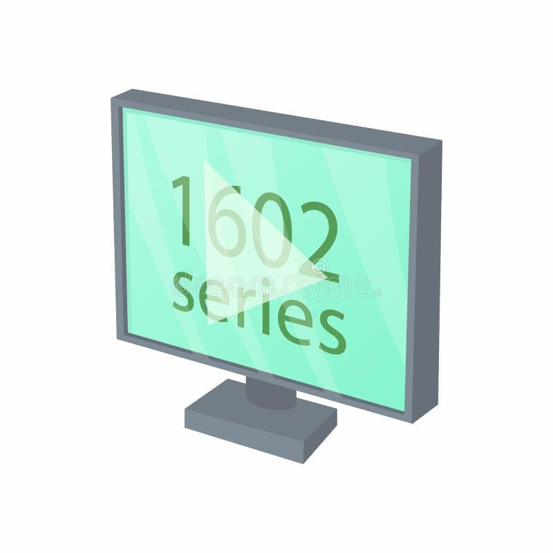 Ikone der Ansicht-Reihe im Fernsehen, Karikaturart vektor abbildung