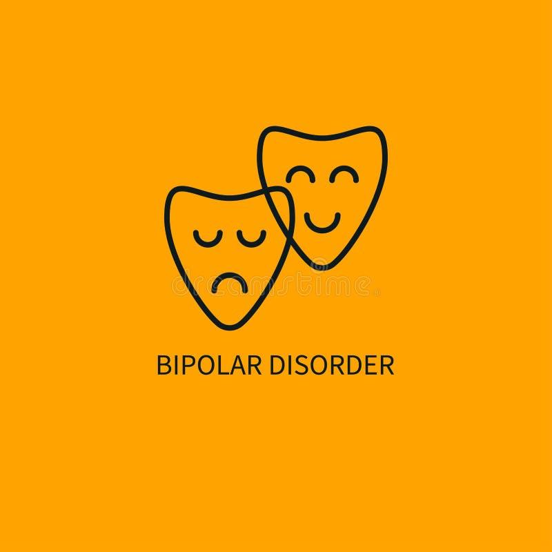 Ikone der bipolaren Störung lizenzfreie abbildung