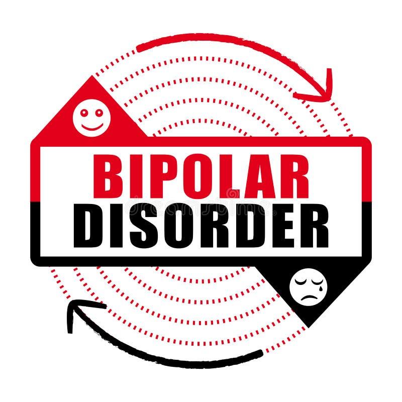 Ikone der bipolaren Störung Geisteskrankheit stock abbildung