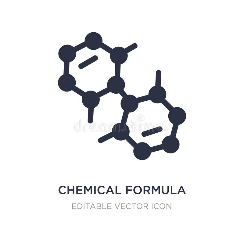 Ikone der chemischen Formel auf weißem Hintergrund Einfache Elementillustration vom Ausbildungskonzept vektor abbildung