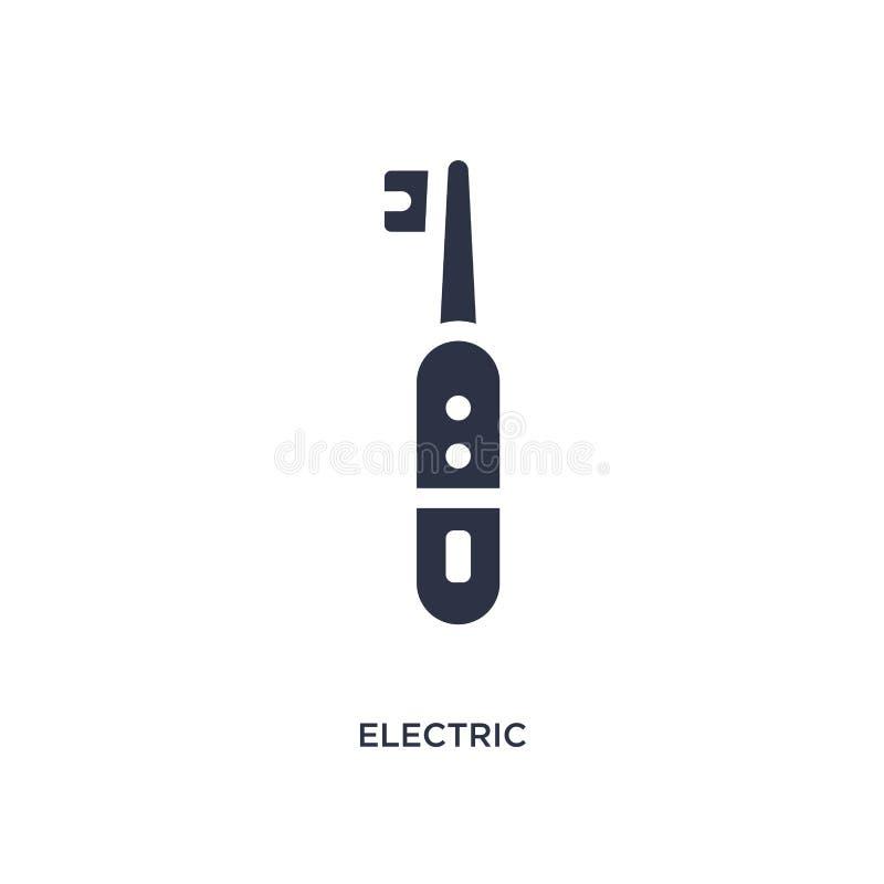 Ikone der elektrischen Zahnbürste auf weißem Hintergrund Einfache Elementillustration vom medizinischen Konzept lizenzfreie abbildung
