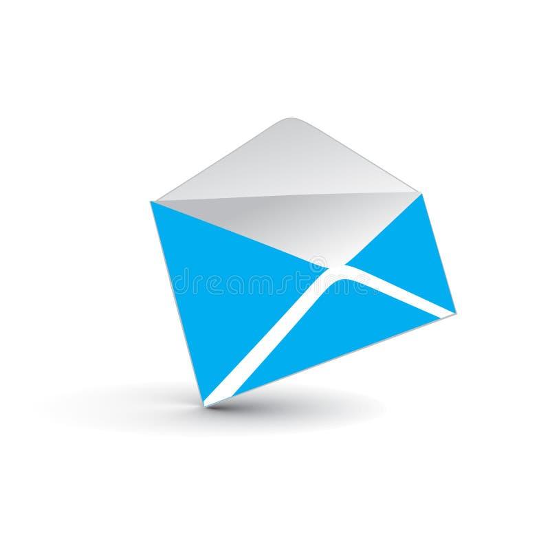 Ikone der eMail 3d lizenzfreie abbildung