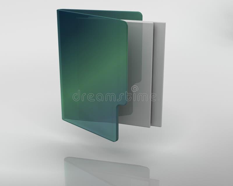 Ikone der Fenster 3D stock abbildung
