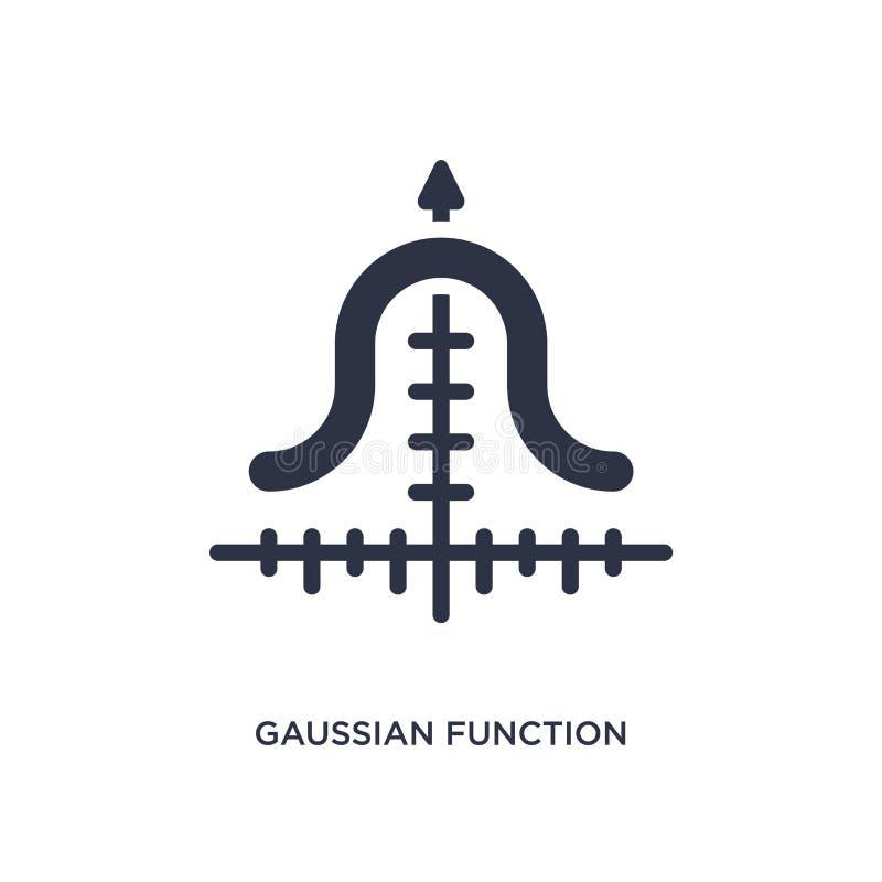 Ikone der Gaußschen Funktion auf weißem Hintergrund Einfache Elementillustration vom Ausbildungskonzept vektor abbildung