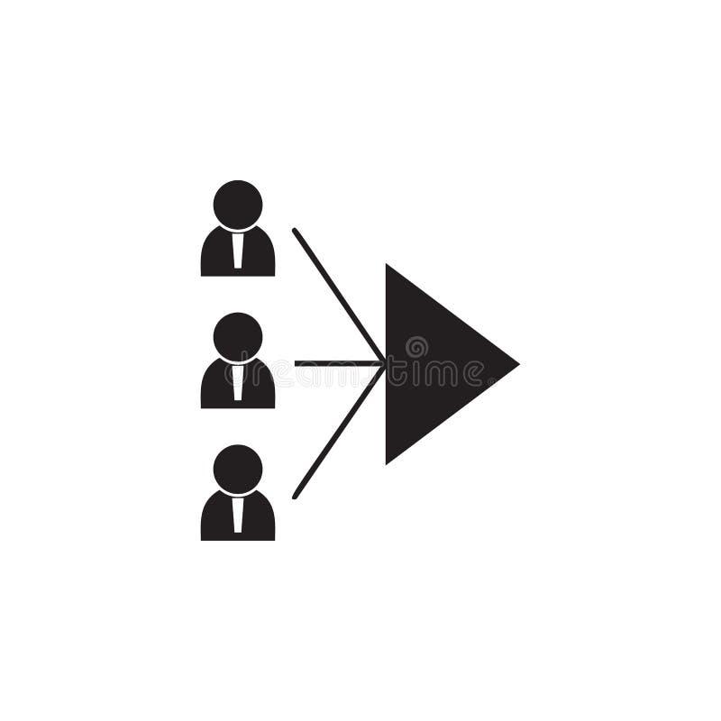 Ikone der gemeinsamen Ziele Ausführliche Ikone der Freundschaft und der Verhältnis-Ikone Erstklassiges Qualitätsgrafikdesign Ein  lizenzfreie abbildung