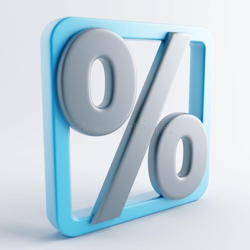 Ikone in der grau-blauen Farbe stock abbildung