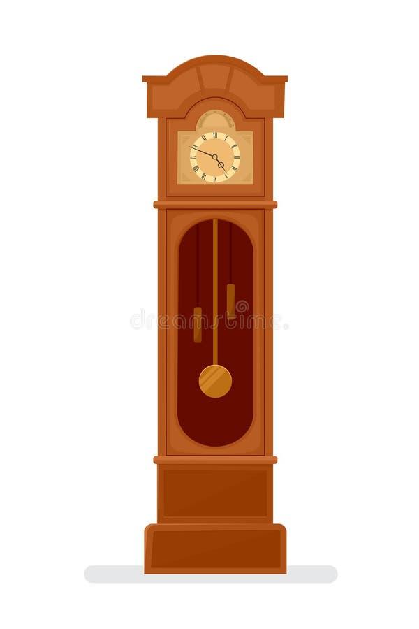 Ikone der großväterlichen Uhr vektor abbildung