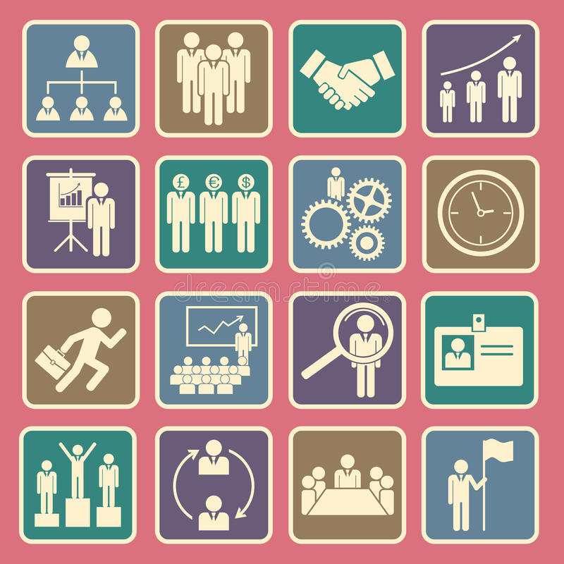 Ikone der menschlichen Ressource lizenzfreie abbildung