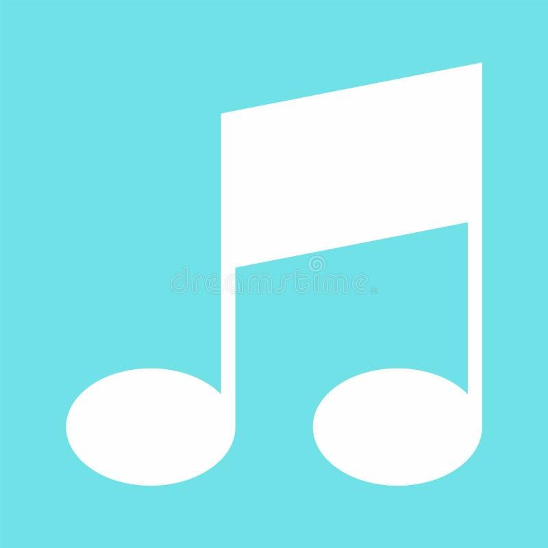 Ikone der musikalischen Anmerkung der Stange, flache Art stock abbildung