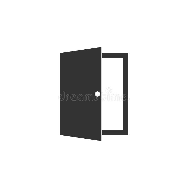 Ikone der offenen T?r Vektorillustration, flaches Design - Datei des Vektor stock abbildung