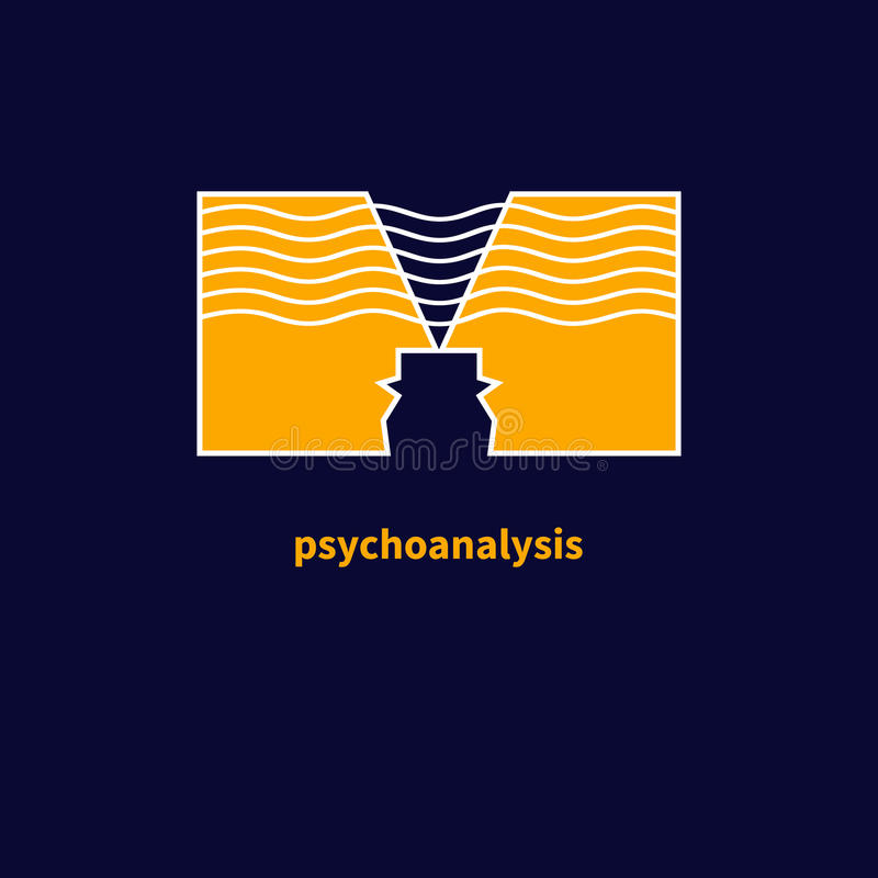 Ikone der Psychotherapie stock abbildung