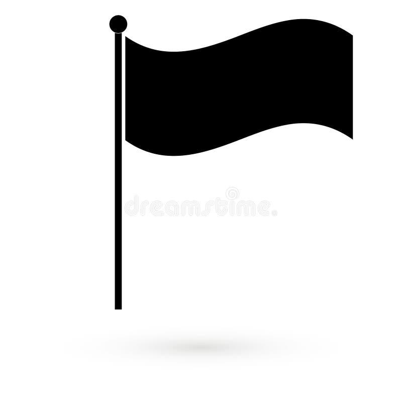 Ikone der schwarzen Flagge raster vektor abbildung