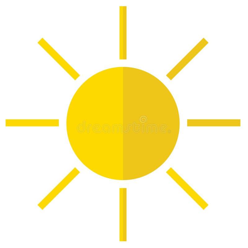 Ikone der Sonne stock abbildung