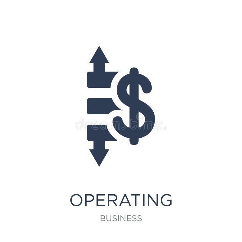 Ikone des betrieblichen Gewinns/des Verlustes Betrieblicher Gewinn des modischen flachen Vektors stock abbildung