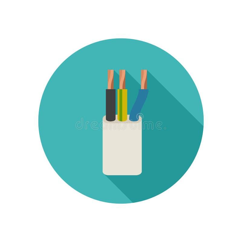 Ikone des elektrischen Kabels stock abbildung