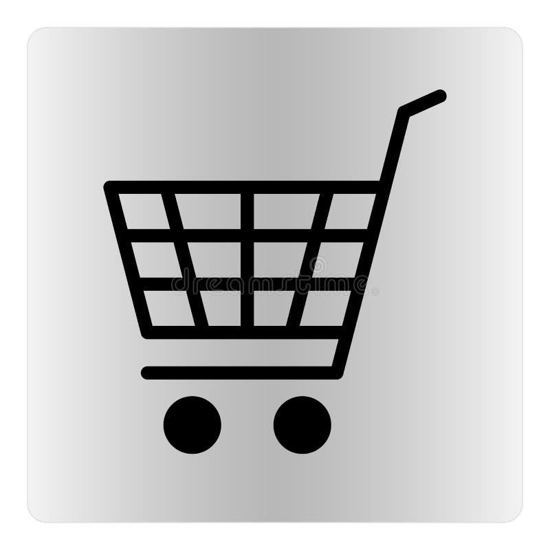 Ikone des elektronischen Geschäftsverkehrs, Einkaufswagen, Vektorillustration lizenzfreie abbildung