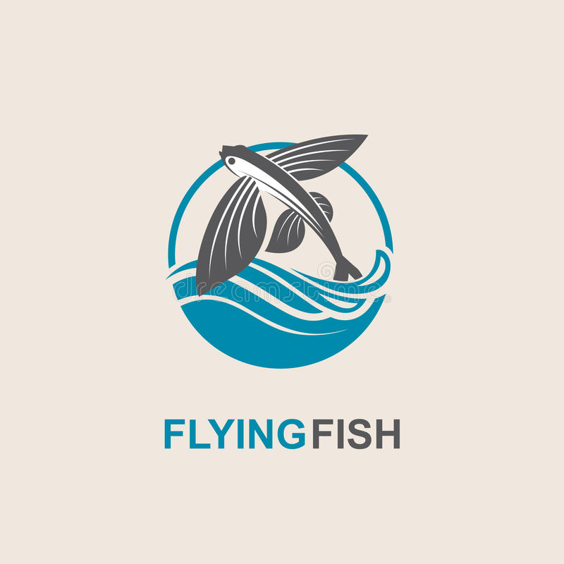 Ikone des fliegenden Fisches lizenzfreie abbildung