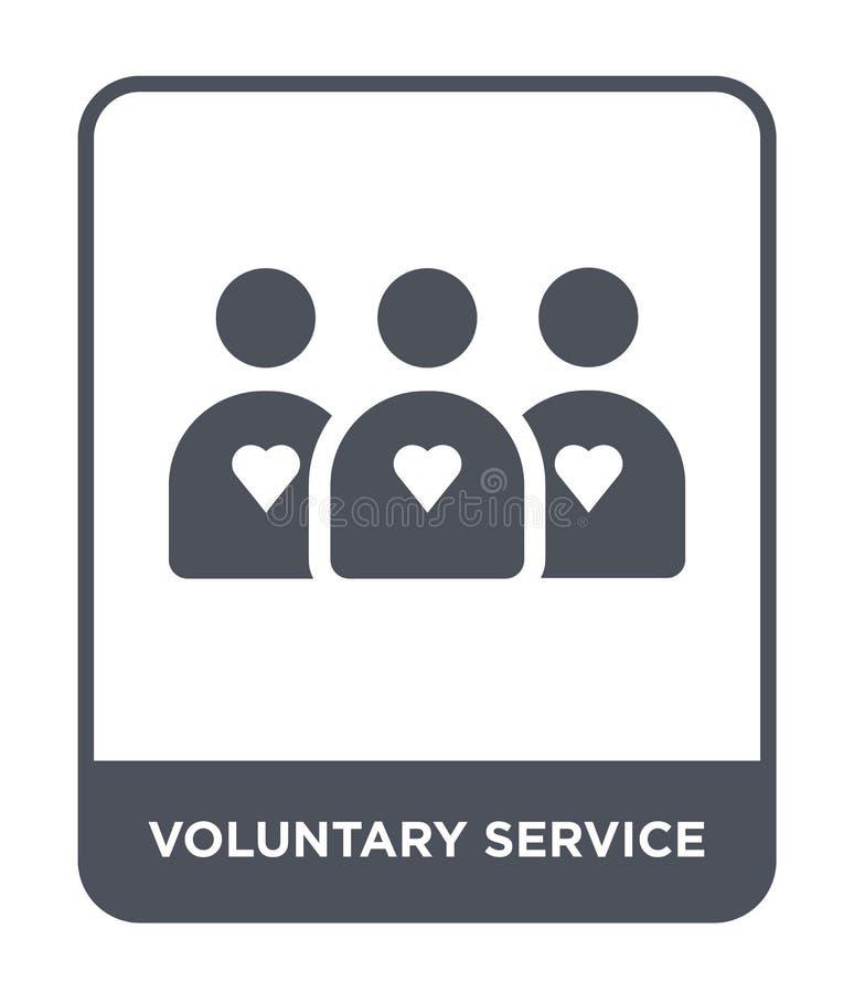 Ikone des Freiwilligen Diensts in der modischen Entwurfsart Ikone des Freiwilligen Diensts lokalisiert auf weißem Hintergrund Vek stock abbildung