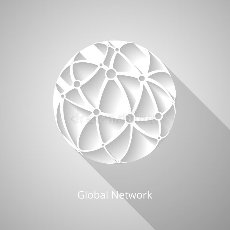 Ikone des globalen Netzwerks stock abbildung