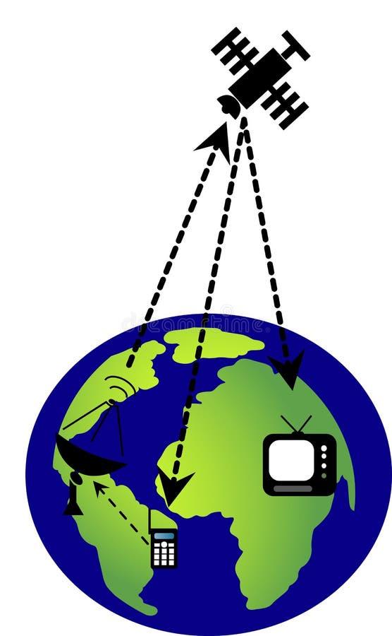Ikone des globalen Netzwerks stockbilder